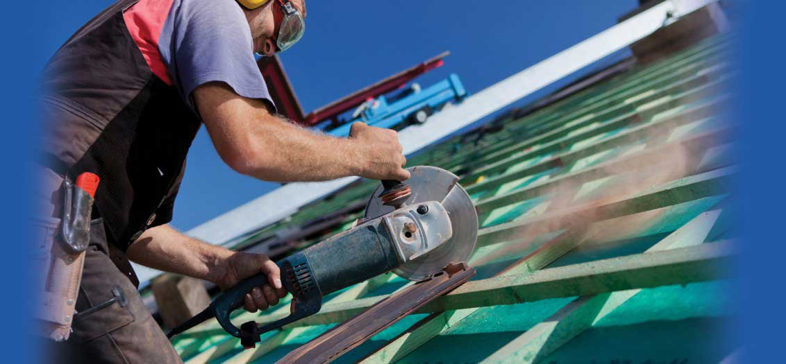 Cutting Roof Tiles for New Roof